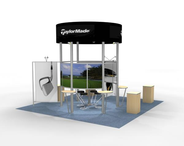 RE-9023 Rental Exhibit / 20� x 20� Island Trade Show Display � Image 1