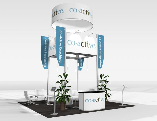 RE-9081 Co-active Trade Show Rental Exhibit -- Image 1