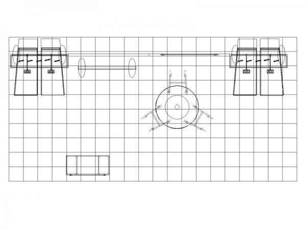 ECO-2055 10' x 20' Sustainable Hybrid Display - Plan View