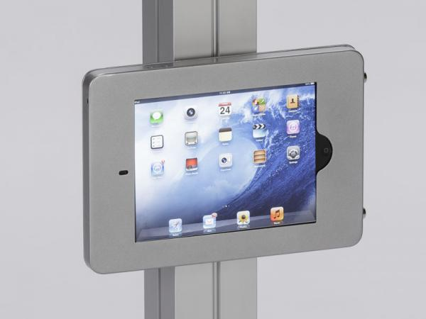 MOD-1318 Swivel iPad Clamshell Frame for Extrusion -- Silver
