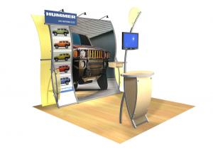 Perfect 10 VK-1509 Portable Hybrid Trade Show Display -- Image 1