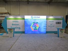 Double-sided LED Lightbox Backwall with SEG Fabric Graphics