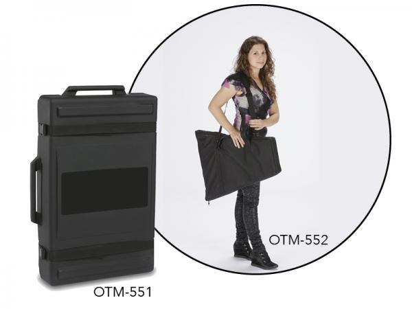 Roto-molded Case with Wheels or Padded Carrying Bag Options