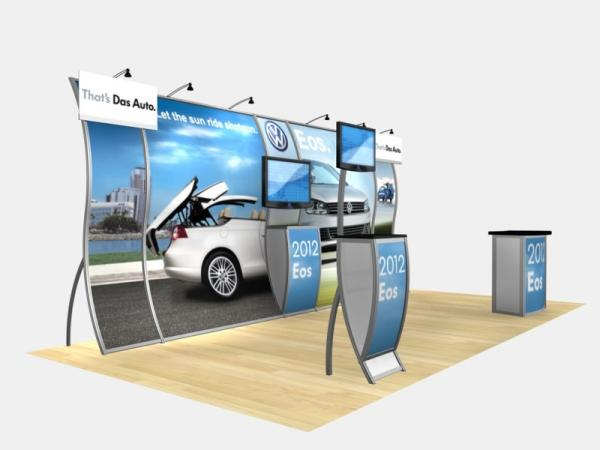 RE-2004 Rental Exhibit / 10' x 20' Inline Trade Show Display � Image 2